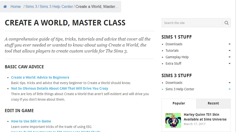 Screenshot of Create a World Masterclass