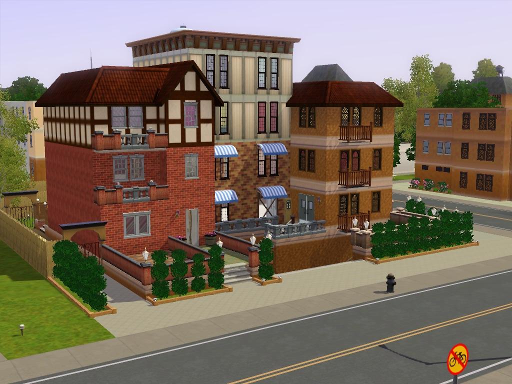 Sims 3 townhouse- Pottersville