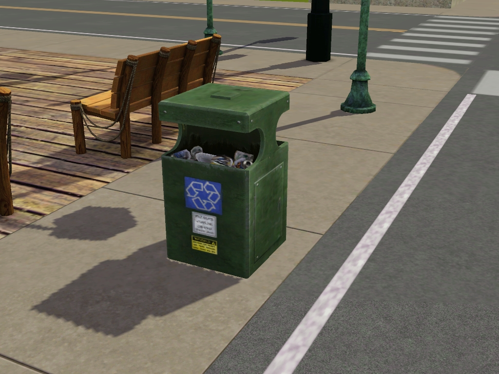 A trash can in CAW.