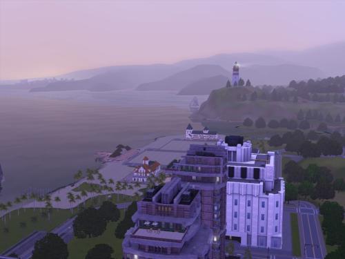 Riverside, overlooking beach/entertainment district
